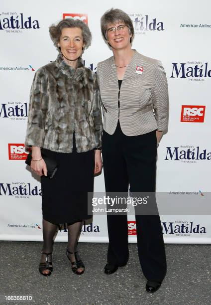 Miranda Curtis and Catherine Mallyon attend the Matilda The Musical Broadway Opening Night at Shubert Theatre on April 11 2013 in New York City