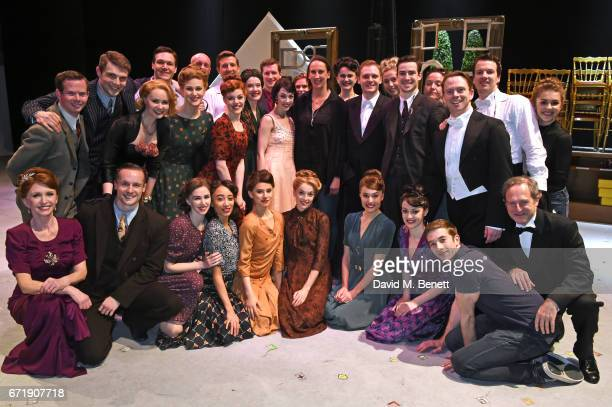 Miranda Hart poses backstage with cast members including Jane Asher Haydn Oakley Leanne Cope Zoe Rainey and David SeadonYoung of the West End...
