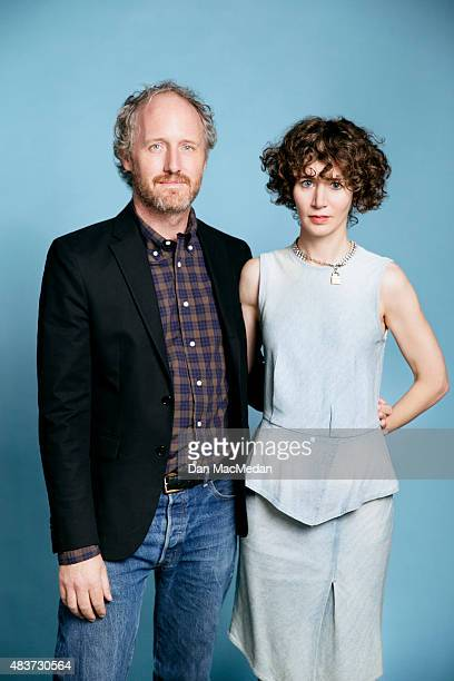 Miranda July and director Mike Mills attend the 'Mistress America' screening during the Sundance NEXT FEST at The Theatre at Ace Hotel on August 7...
