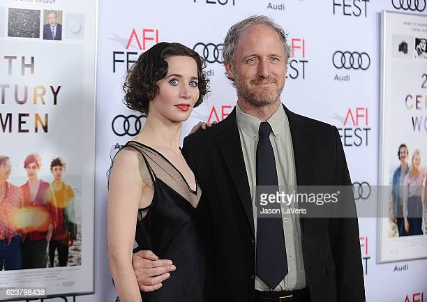 Miranda July and Mike Mills attend a screening of '20th Century Women' at the 2016 AFI Fest at TCL Chinese Theatre on November 16 2016 in Hollywood...