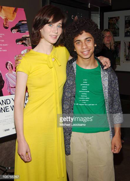 Miranda July and Miles Thompson during IFC's 'Me and You and Everyone We Know' New York City Premiere at IFC Center in New York City New York United...