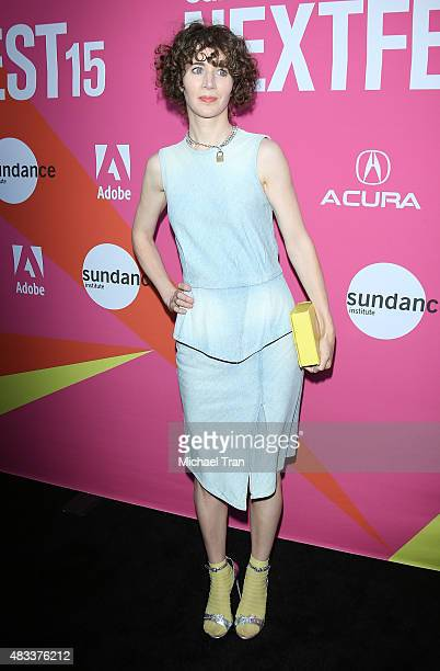 Miranda July arrives at the Los Angeles premiere of 'Mistress America' during the 2015 Sundance NEXT FEST held at Ace Hotel on August 7 2015 in Los...