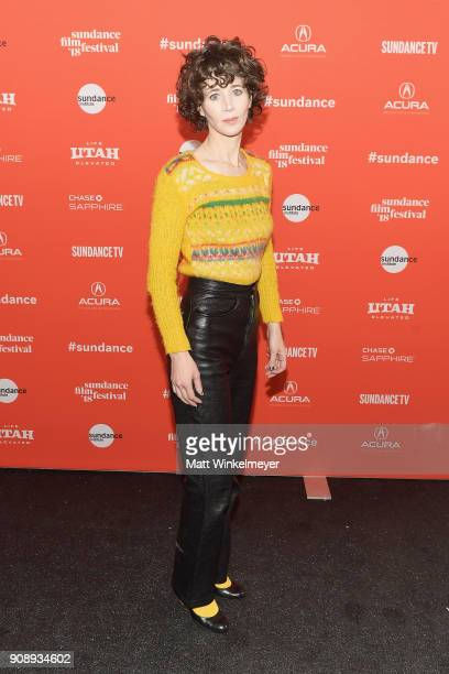 Miranda July attends the 'Madeline's Madeline' Premiere during the 2018 Sundance Film Festival at Park City Library on January 22 2018 in Park City...