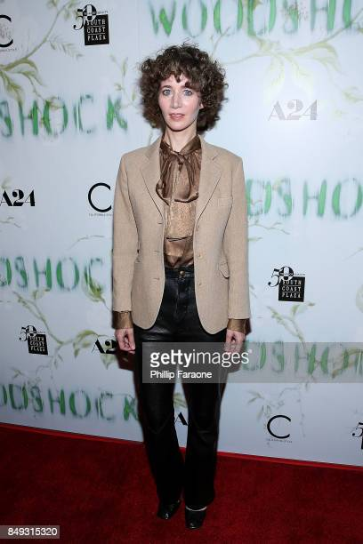 Miranda July attends the premiere of A24's 'Woodshock' at ArcLight Cinemas on September 18 2017 in Hollywood California