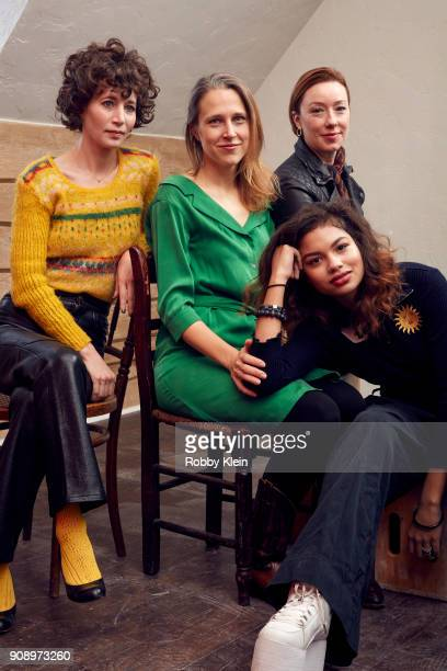 Miranda July Josephine Decker Helena Howard and Molly Parker from the film 'Madeline's Madeline' pose for a portrait in the YouTube x Getty Images...