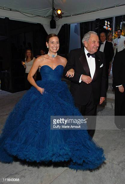 Miranda Kaiser and David Rockefeller during The 37th Annual Party in the Garden Honoring David Rockefeller's 90th Birthday at The Abbey Aldrich...