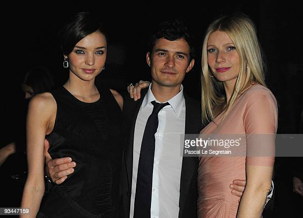 Miranda Kerr Actor Orlando Bloom and Actress Gwyneth Paltrow attend the Mamounia hotel inauguration on November 26 2009 in Marrakech Morocco