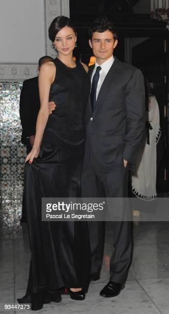 Miranda Kerr and Actor Orlando Bloom attend the Mamounia hotel inauguration on November 26 2009 in Marrakech Morocco