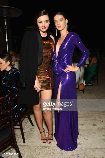 Miranda Kerr and Angela Sarafyan attend the 2018 InStyle Awards at The Getty Center on October 22 2018 in Los Angeles California