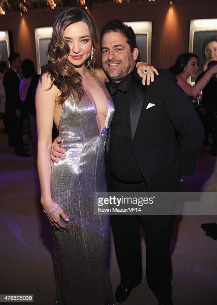 Miranda Kerr and Brett Ratner attend the 2014 Vanity Fair Oscar Party Hosted By Graydon Carter on March 2 2014 in West Hollywood California