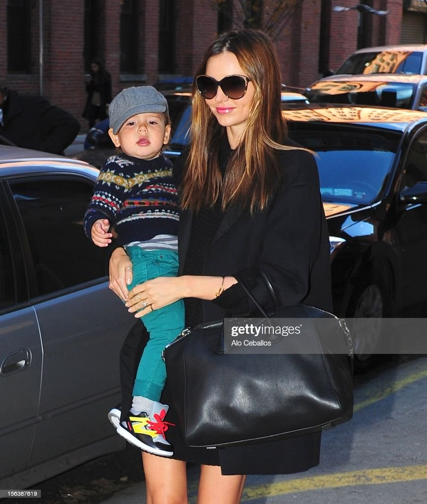 Miranda Kerr And Flynn Bloom Sightings In New York City - November 14, 2012