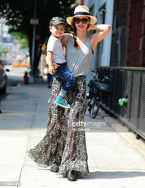 Miranda Kerr and Flynn Christopher Bloom are sighted on June 18 2013 in New York City