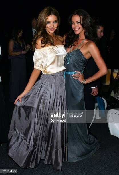 Miranda Kerr and Megan Gale attend the after party for the David Jones Summer 2008 Collections Launch 'Summer In The City' event at the Royal Hall of...