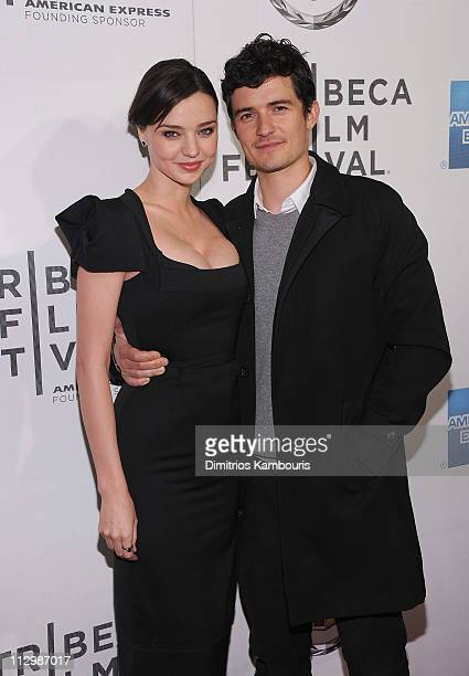 Miranda Kerr and Orlando Bloom attend the premiere of The Good Doctor during the 10th annual Tribeca Film Festival at BMCC Tribeca PAC on April 22...