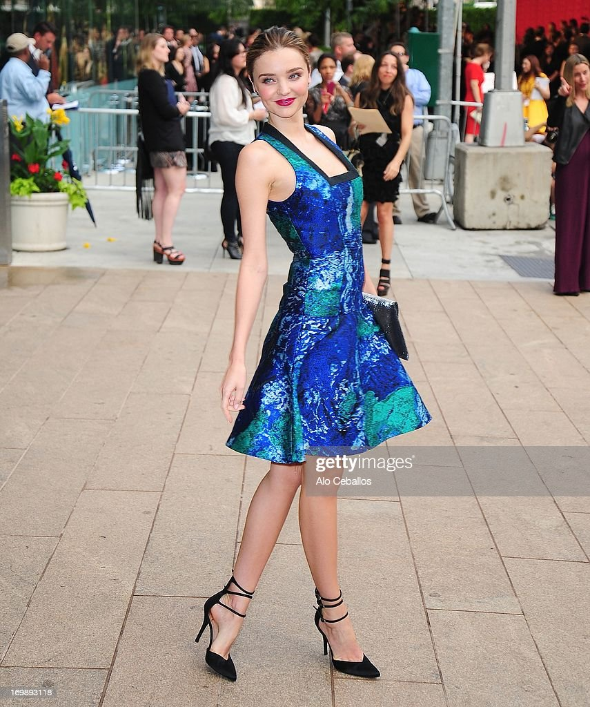 Miranda Kerr arrives at the 2013 CFDA Fashion Awards at Alice Tully Hall on June 3, 2013 in New York, New York.