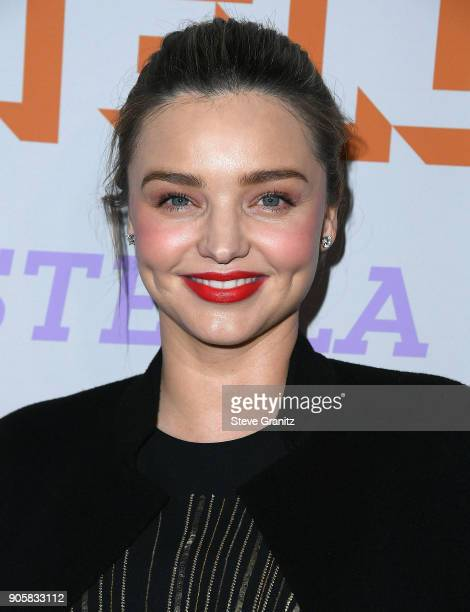 Miranda Kerr arrives at the Stella McCartney's Autumn 2018 Collection Launch on January 16 2018 in Los Angeles California