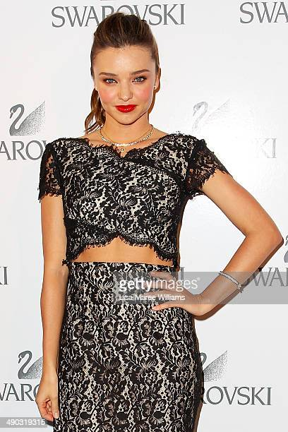 Miranda Kerr arrives for a Swarovski Gala Dinner at Bennelong Restaurant at the Sydney Opera House on May 14 2014 in Sydney Australia