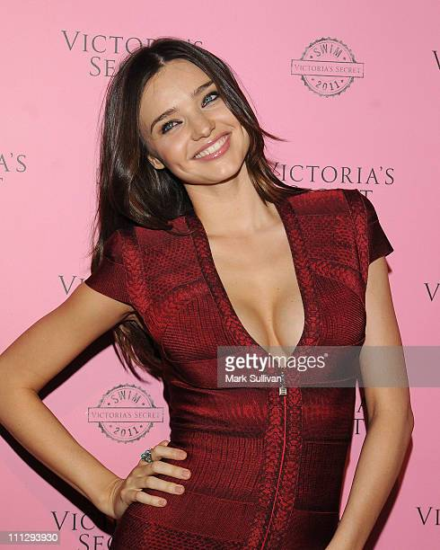 Miranda Kerr arrives for Victoria's Secret 2011 SWIM collection launch party at Club L on March 30 2011 in West Hollywood California