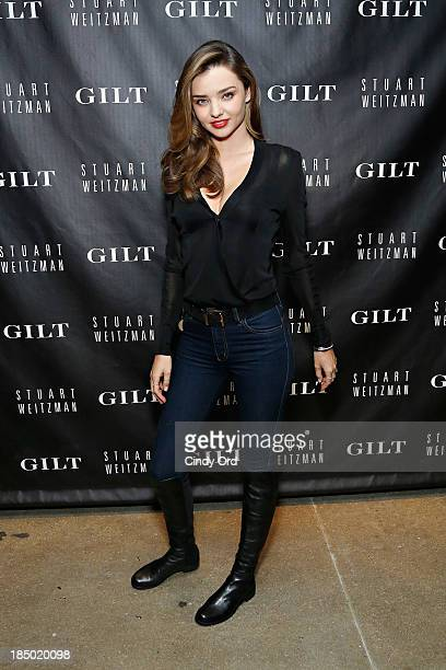 Miranda Kerr attends as Gilt And Stuart Weitzman celebrate the 5050 Boot 20th anniversary on October 16, 2013 in New York City.