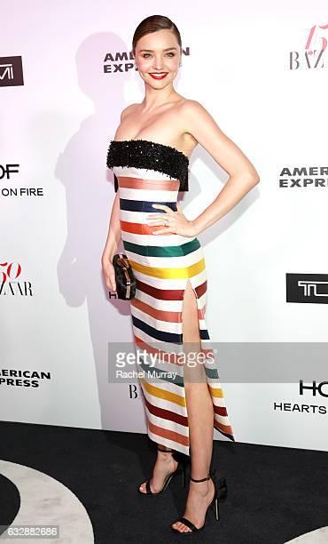 Miranda Kerr attends Harper's BAZAAR celebration of the 150 Most Fashionable Women presented by TUMI in partnership with American Express La Perla...