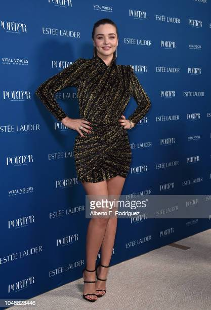 Miranda Kerr attends Porter's Incredible Women Gala 2018 at Ebell of Los Angeles on October 9 2018 in Los Angeles California
