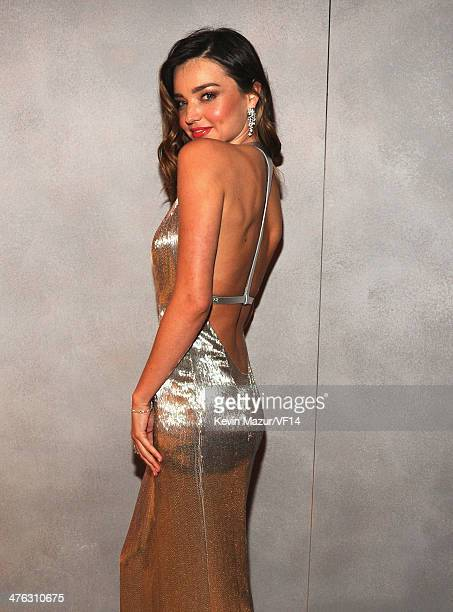 Miranda Kerr attends the 2014 Vanity Fair Oscar Party Hosted By Graydon Carter on March 2 2014 in West Hollywood California