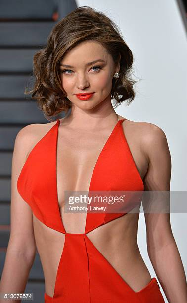 Miranda Kerr attends the 2016 Vanity Fair Oscar Party hosted By Graydon Carter at Wallis Annenberg Center for the Performing Arts on February 28 2016...
