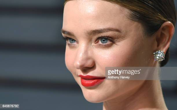 Miranda Kerr attends the 2017 Vanity Fair Oscar Party hosted by Graydon Carter at Wallis Annenberg Center for the Performing Arts on February 26 2017...