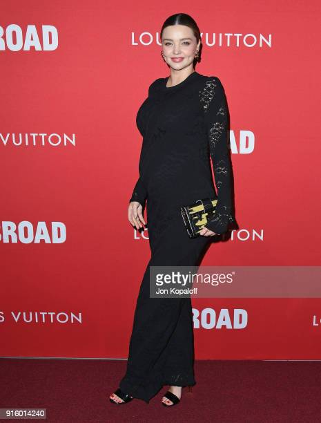 Miranda Kerr attends The Broad And Louis Vuitton Celebrate Jasper Johns Something Resembling Truth at The Broad on February 8 2018 in Los Angeles...