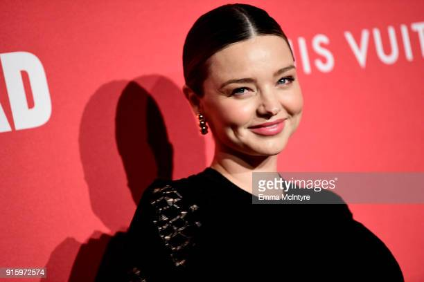 Miranda Kerr attends The Broad and Louis Vuitton's celebration of Jasper Johns Something Resembling Truth at The Broad on February 8 2018 in Los...