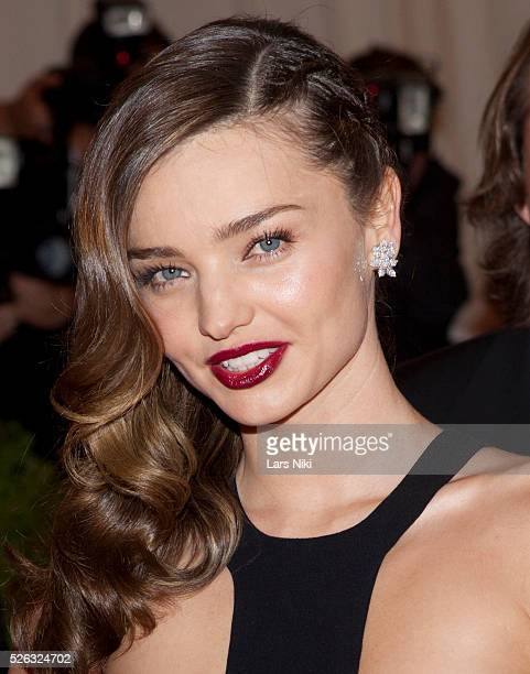 Miranda Kerr attends the Costume Institute Gala for the 'PUNK Chaos to Couture' exhibition at the Metropolitan Museum of Art in New York City �� LAN