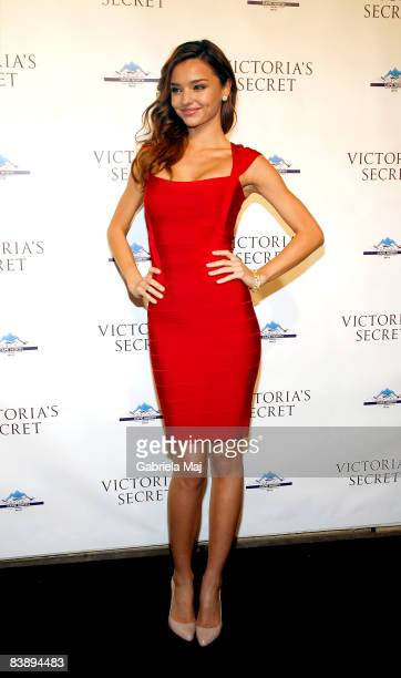 Miranda Kerr attends the grand opening cocktail party for the new Victoria Secret Lexington Avenue Flagship Store on December 2 2008 in New York City
