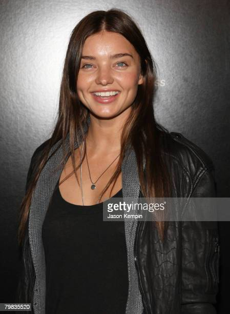 Miranda Kerr attends the launch party for the new Blackberry Pearl 8130 Smartphone from Verizon at the IAC Building on January 29 2008 in New York...