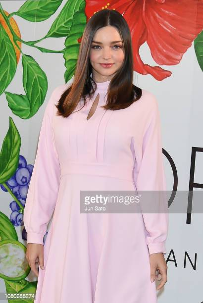Miranda Kerr attends the launch press event for 'KORA Organics' on January 11 2019 in Tokyo Japan