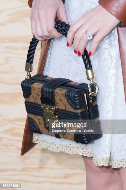Miranda Kerr attends the Louis Vuitton's Dinner for the Launch of Bags by Artist Jeff Koons at Musee du Louvre on April 11 2017 in Paris France