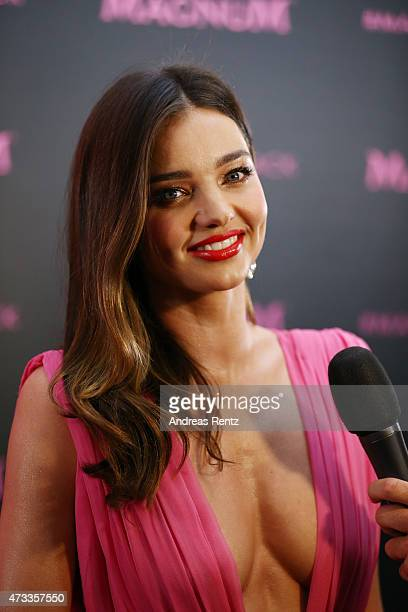 Miranda Kerr attends the Magnum 'Pink and Black' party during the 68th annual Cannes Film Festival on May 14 2015 in Cannes France
