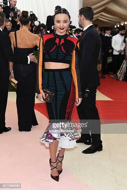 Miranda Kerr attends the 'Manus x Machina Fashion In An Age Of Technology' Costume Institute Gala at Metropolitan Museum of Art on May 2 2016 in New...