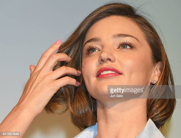 Miranda Kerr attends the promotional event for 'Marukome Miso' at ShangriLa Hotel on June 20 2016 in Tokyo Japan