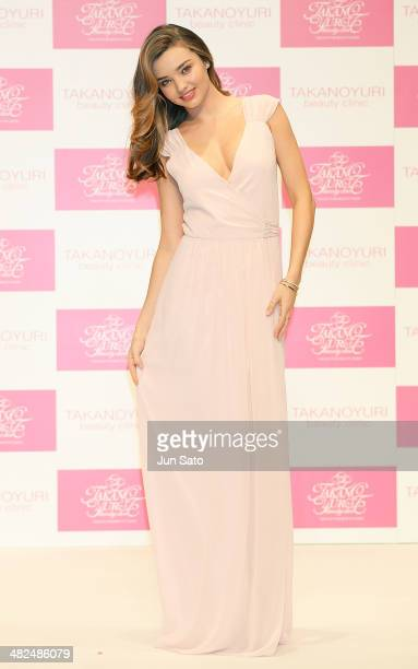 Miranda Kerr attends the promotional event for Yuri Takano at the Hikarie Hall on April 4, 2014 in Tokyo, Japan.
