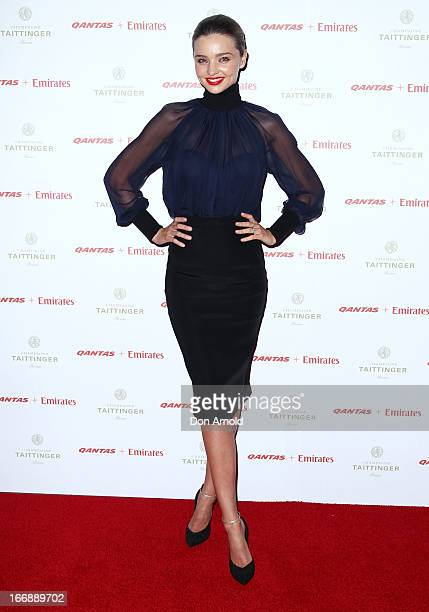 Miranda Kerr attends the QANTAS Gala Dinner at Sydney Domestic Airport on April 18, 2013 in Sydney, Australia.