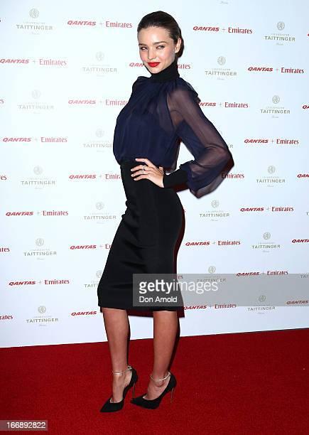 Miranda Kerr attends the QANTAS Gala Dinner at Sydney Domestic Airport on April 18 2013 in Sydney Australia