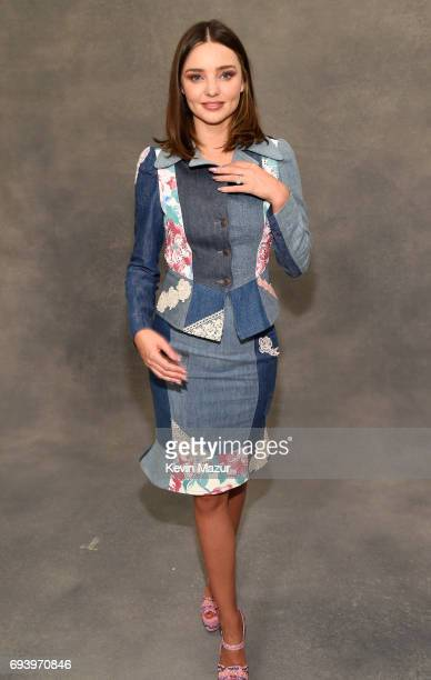 Miranda Kerr backstage at Moschino Spring/Summer 18 Menswear and Women's Resort Collection at Milk Studios on June 8 2017 in Hollywood California