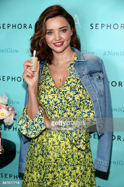Miranda Kerr celebrates the US arrival of her KORA Organics brand at Sephora Times Square on September 15 2017 in New York City