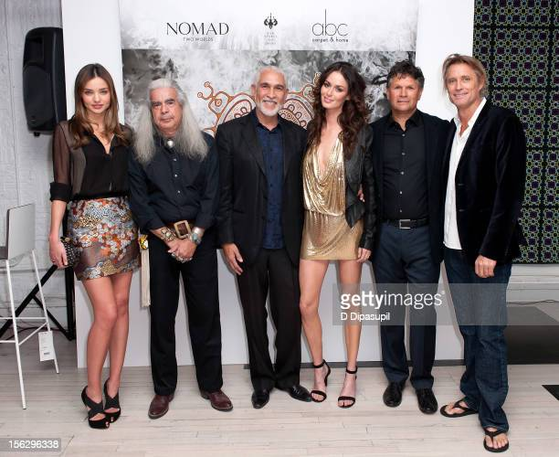 Miranda Kerr Graywolf Philippe Dodard Nicole Trunfio Dr Richard Walley and Russell James attend the Raw Spirit Fire Tree fragrance oil and Nomad Two...