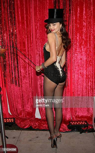 Miranda Kerr hosts the Sexy Circus Halloween Party at Catch Rooftop on October 31 2011 in New York City