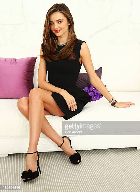 Miranda Kerr is named as the ambassador for Clear Scalp and Hair Beauty Therapy at Bondi Beach on February 13 2013 in Sydney Australia