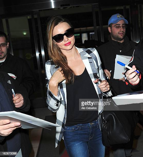 Miranda Kerr is seen at JFK Airport on February 22 2013 in New York City