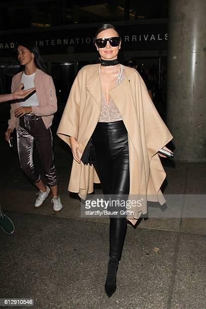 Miranda Kerr is seen at LAX on October 05 2016 in Los Angeles California