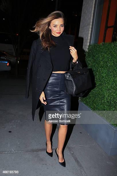 Miranda Kerr is seen in Downtown Manhattan on January 31 2014 in New York City