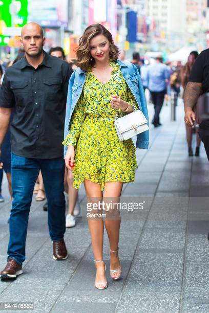 Miranda Kerr is seen in Midtown on September 15 2017 in New York City
